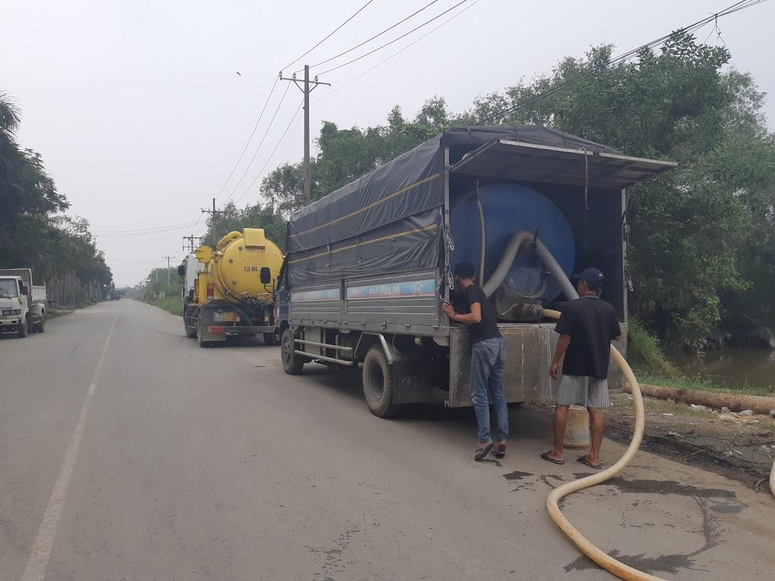 xe hút và vận chuyển chất thải tại kiên giang