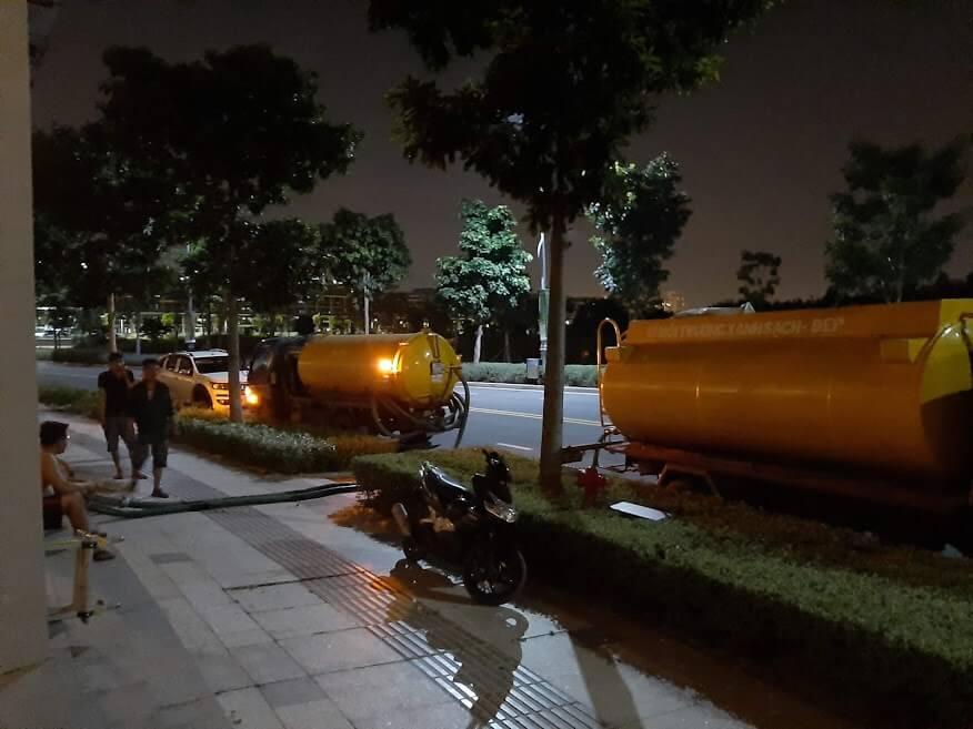 Hầm chứa nước thải bị đầy phải làm như thế nào